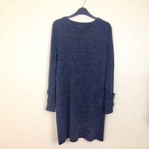 ZARA Dark Grey Sweater Dress with buttons